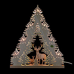 3D Light Triangle - 'Deer' - 38x44x4,5 cm / 15x17.3x1.7 inch