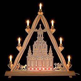 3D Light Triangle - Dresden's Church of Our Lady - 50x55 cm / 20x22 inch