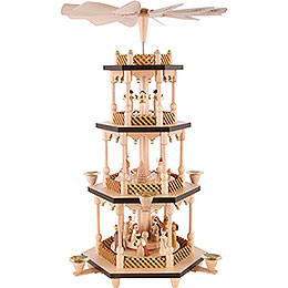 4-Tier Pyramid - Nativity Scene - 54 cm / 21 inch