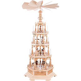 4-Tier Pyramid - The Christmas Story - 122 cm /48 inch - 230 V Electr. Motor