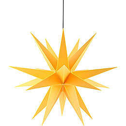 Advents Star for Inside and Outside Use Yellow incl. Lighting - 60 cm / 23.6 inch