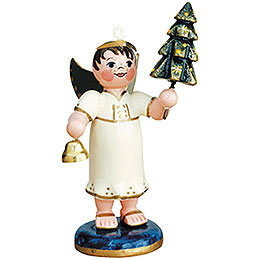 Angel Boy with Christmas Tree - 6,5 cm / 2,5 inch