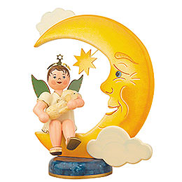 Angel Boy with Moon and Sheep - 20 cm / 8 inch