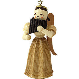 Angel Long Pleated Skirt with Panpipe, Natural - 6,6 cm / 2.6 inch