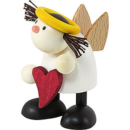 Angel Lotte Standing with Heart - 7 cm / 2.8 inch