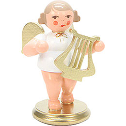 Angel White/Gold with Lyre - 6,0 cm / 2 inch