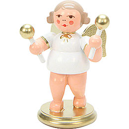 Angel White/Gold with Maraca - 6 cm / 2 inch
