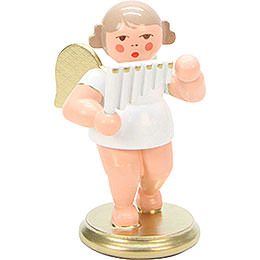 Angel White/Gold with Pan Flute - 6,0 cm / 2 inch