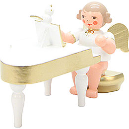 Angel White/Gold with Piano - 6,0 cm / 2 inch