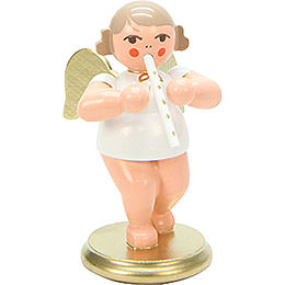 Angel White/Gold with Recorder - 6,0 cm / 2 inch