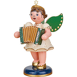 Angel with Accordion - 10 cm / 3.9 inch
