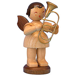 Angel with Baritone - Natural Colors - Standing - 9,5 cm / 3,7 inch