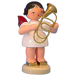 Angel with Baritone - Red Wings - Standing - 9,5 cm / 3,7 inch