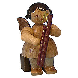 Angel with Bassoon - Natural Colors - Sitting - 5 cm / 2 inch