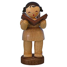 Angel with Book - Natural Colors - Standing - 6 cm / 2,3 inch