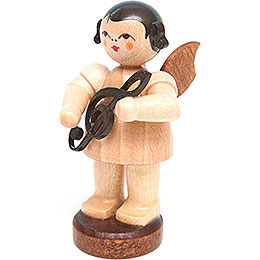 Angel with Clef - Natural Colors - Standing - 6 cm / 2.4 inch