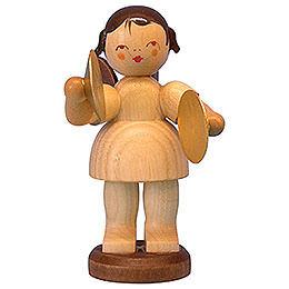 Angel with Cymbal - Natural Colors - Standing - 9,5 cm / 3,7 inch