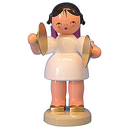 Angel with Cymbal - Red Wings - Standing - 9,5 cm / 3,7 inch