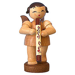 Angel with Didgeridoo - Natural Colors - Standing - 6 cm / 2,3 inch