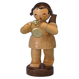 Angel with Flugelhorn - Natural Colors - Standing - 6 cm / 2,3 inch