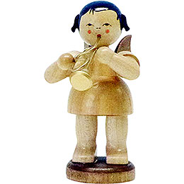 Angel with Flugelhorn - Natural Colors - Standing - 9,5 cm / 3.7 inch