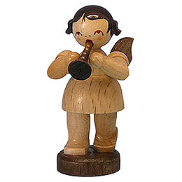 Angel with Flute - Natural Colors - Standing - 6 cm / 2,3 inch