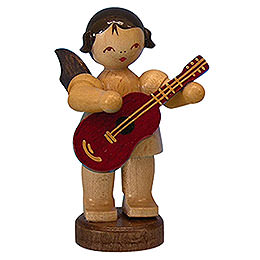 Angel with Guitar - Natural Colors - Standing - 6 cm / 2,3 inch