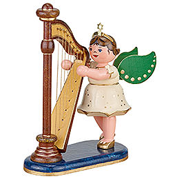 Angel with Harp - 10 cm / 4 inch