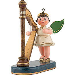 Angel with Harp - 16 cm / 6 inch