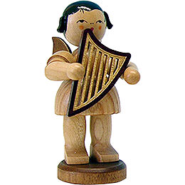 Angel with Lyre - Natural - Standing - 9,5 cm / 3.7 inch