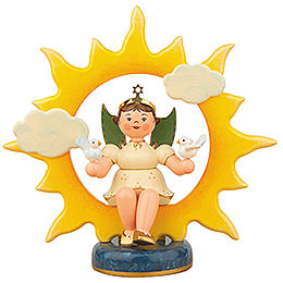 Angel with Sun and Doves - 20 cm / 8 inch