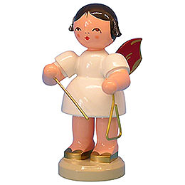 Angel with Triangle - Red Wings - Standing - 9,5 cm / 3,7 inch