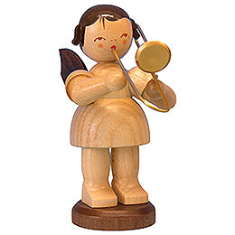 Angel with Trombone - Natural Colors - Standing - 9,5 cm / 3,7 inch