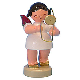 Angel with Trombone - Red Wings - Standing - 6 cm / 2,3 inch