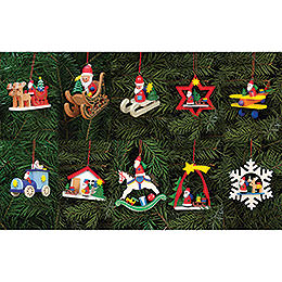 Bundle - Tree Ornaments Santa Claus