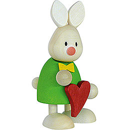 Bunny Max Standing with Heart - 9 cm / 3.5 inch