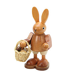 Bunny with Eggs in Basket Natural Colors - 9,0 cm / 4 inch