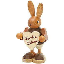 Bunny with Heart Natural - 8,5 cm / 3.3 inch