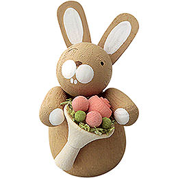 Bunny with Rose Bouquet - 3 cm / 1.2 inch