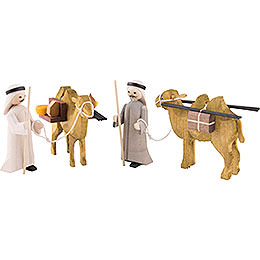 Camel Herders, Set of Four, Stained - 7 cm / 2.8 inch