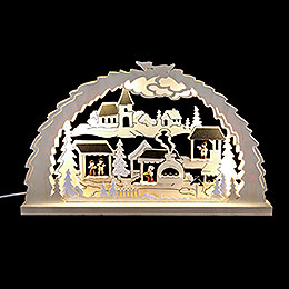 Candle Arch - Christmas Market - 62x37x4,5 cm / 24.4x14.6x1.7 inch