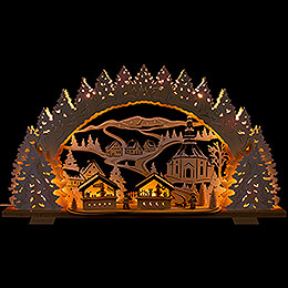 Candle Arch - Christmas Market in Seiffen - 72x41 cm / 28.3x16.1 inch