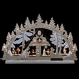 Candle Arch - Christmashouse - 74x47x5,5 cm /29x19x2 inch
