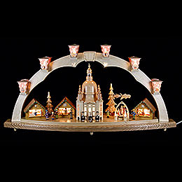 Candle Arch - Church of Our Lady with Pyramid - 80x40 cm / 31.5x15.8 inch