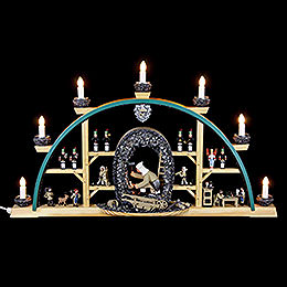 Candle Arch - Miner Kneeling - 70x40 cm / 27.5x15.7 inch
