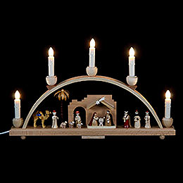 Candle Arch - Nativity Scene - 19x11 inch - 48x28 cm / 11 inch