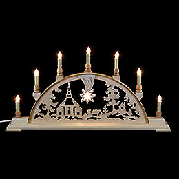 Candle Arch - Seiffen Church - 63x32 cm / 25x13 inch