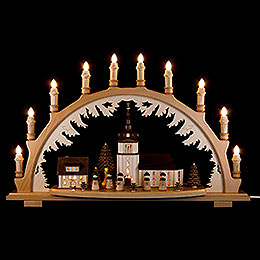 Candle Arch - Village Church with Carolers - 66x43 cm / 26x16.9 inch