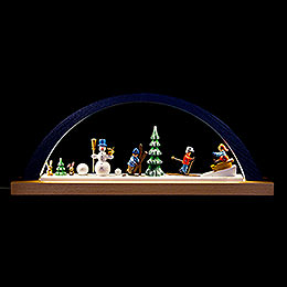 Candle Arch - Winter Children - Blue - 40x16 cm / 15.7x6.3 inch