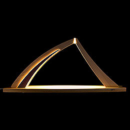 Candle Arch - modern wood - NEW LINE Beech - without Figurines - 57x26 cm / 22.4x10.2 inch